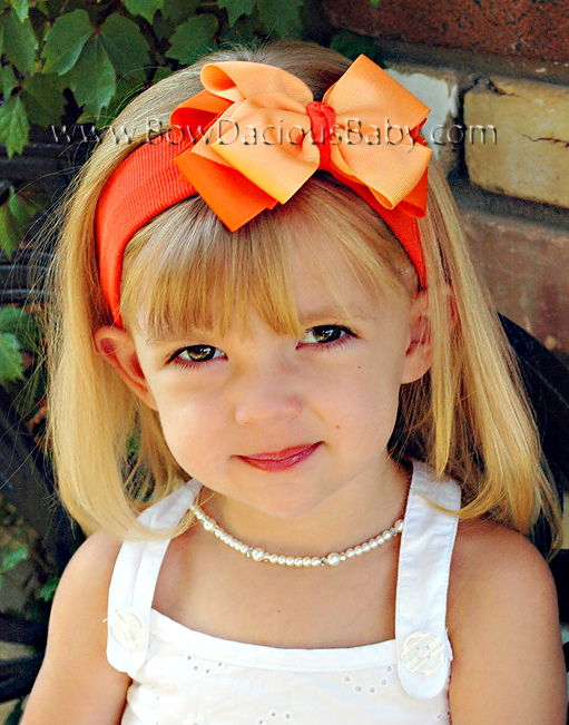 Classic Boutique Headband Double Color Knot Center Regular or Mini, Color Choices