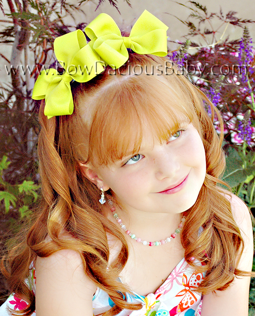 Classic Boutique Hair Bows Plain Center, Color Choices