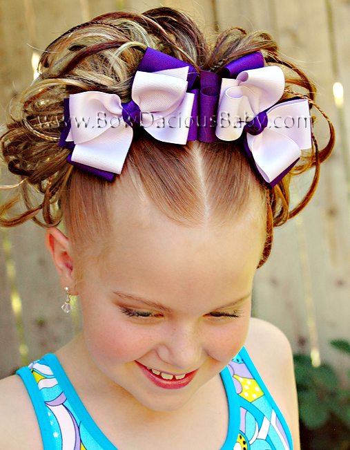 Classic Boutique Hair Bows Double Layer Double Color Knot Center, Color Choices