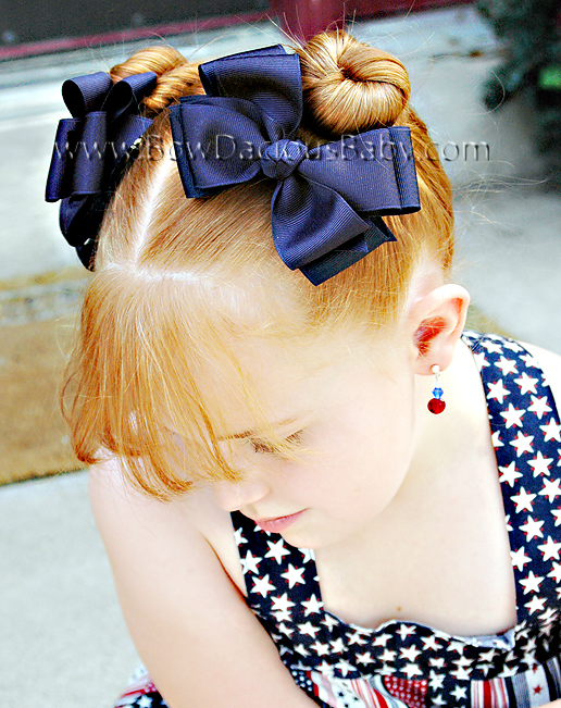 Classic Boutique Hair Bows Double Layer Knot Center, Color Choices