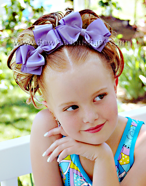 Classic Boutique Hair Bows Double Layer Plain Center, Color Choices