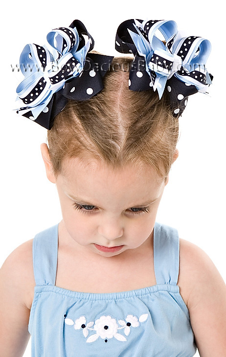 Denim Blues DIVA Boutique Hair Bows or Headband