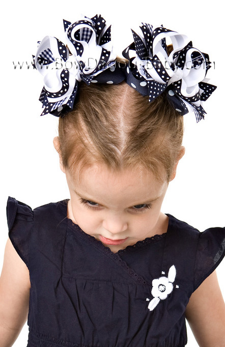 Navy DIVA Boutique Hair Bows or Headband