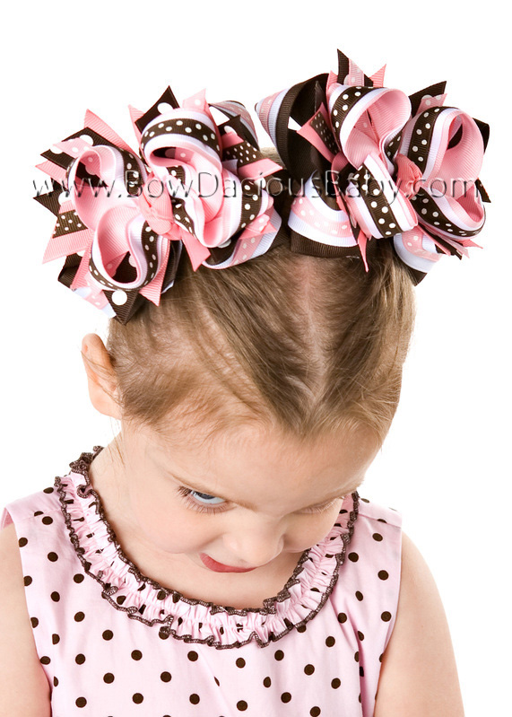 Pink-n-Brown DIVA Boutique Hair Bows or Headband