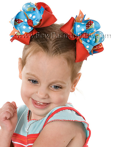 Circus Fun DIVA Boutique Hair Bows or Headband