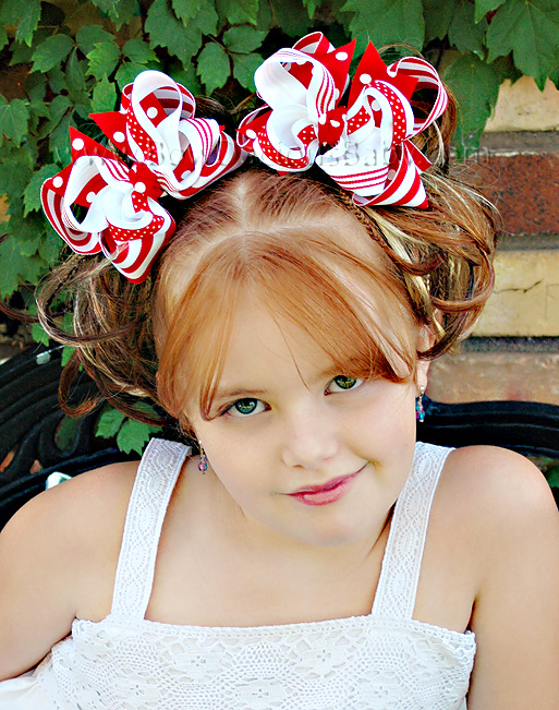 *Stripe & Polka DIVA Boutique Hair Bows or Headband Several Color Choices