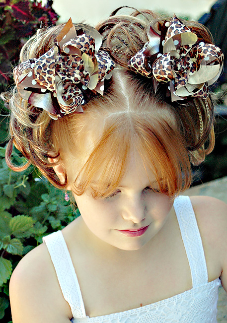 Leopard DIVA Boutique Hair Bows or Headband