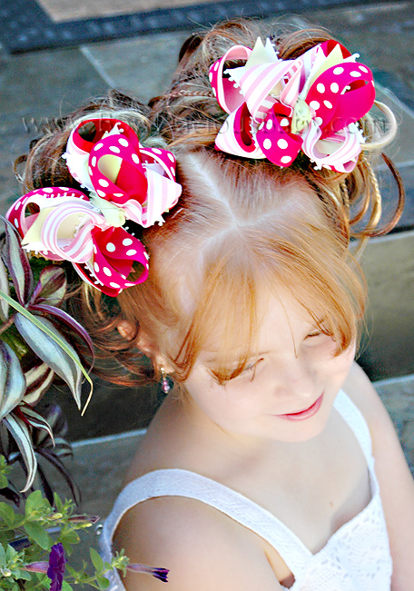 Pink and Shocking DIVA Boutique Hair Bows or Headband