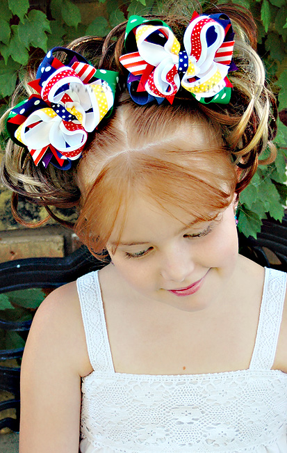 Primary Colors DIVA Boutique Hair Bows or Headband