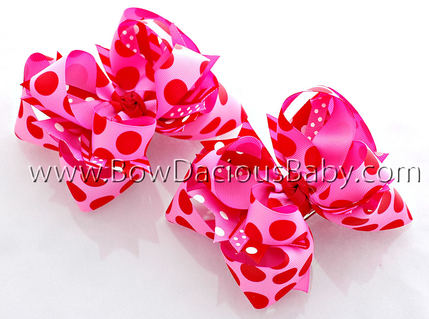 Raspberry & Hot DIVA Boutique Hair Bows or Headband