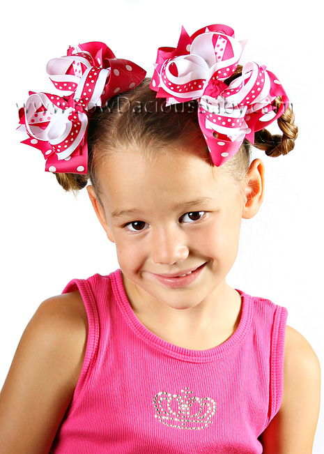 *Layered Polka DIVA Boutique Hair Bows or Headband Several Color Choices