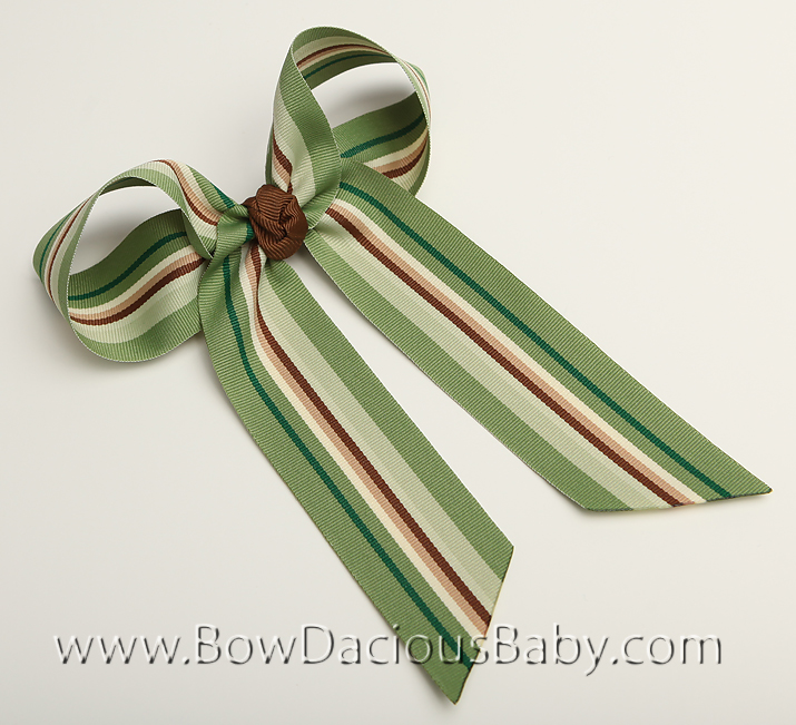 Mossy Greens Ella Bow Big Girl Ponytail Hairbow