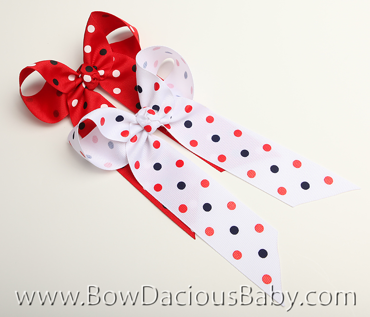 Famous Mouse Ella Bow Big Girl Ponytail Hairbow