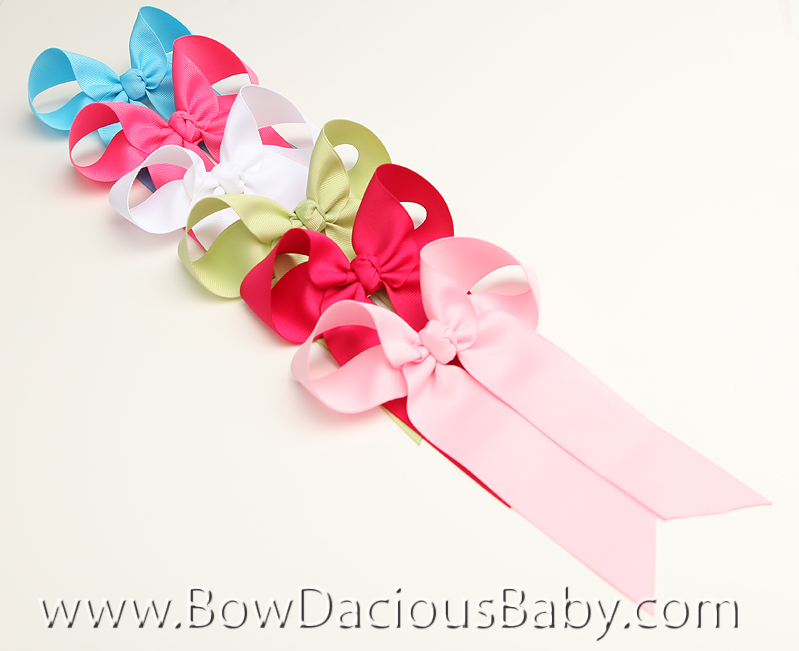 *Custom Solids Ella Bow Big Girl Ponytail Hairbow, You pick the color
