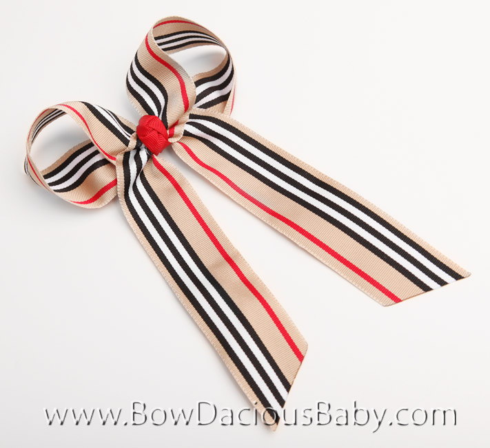 Nova Stripe Ella Bow Big Girl Ponytail Hairbow