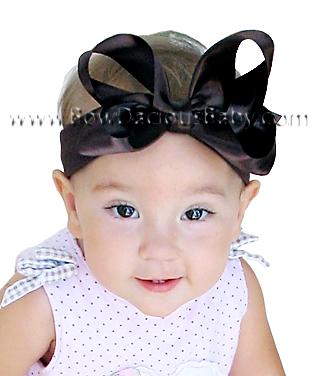 Emma Bow Satin Boutique Headband, Color Choices