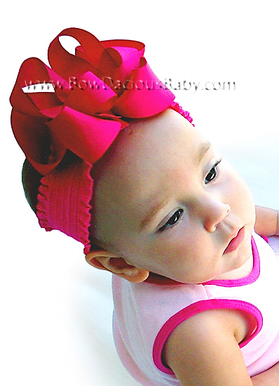 Emma Bow Boutique Headband Ruffle Band Knot Center, Color Choices