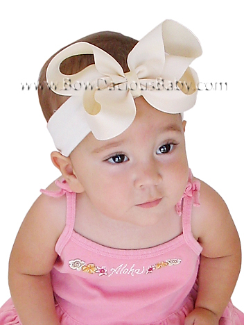 Emma Bow Boutique Headband Plain Center, Color Choices