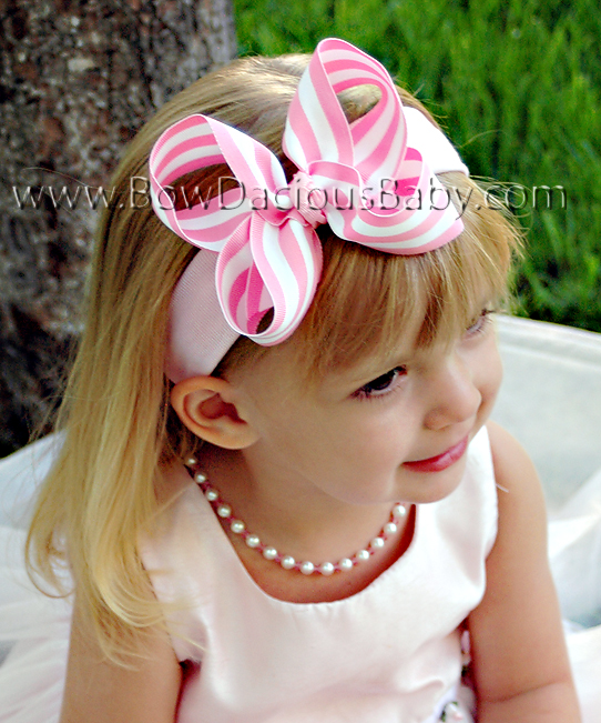 Emma Boutique Headband in Stripes Knot Center, Color Choices