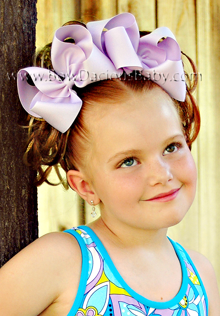 Emma Bow Jumbo Boutique Hair Bows Plain Center, Color Choices