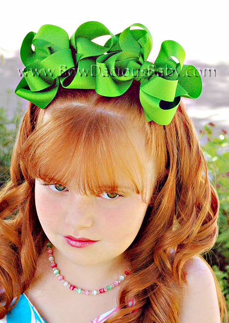 Emma Bow Boutique Hair Bows Double Layered Knot Center, Color Choices