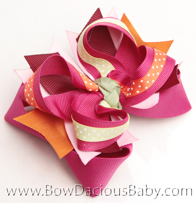 Gymboree All About Buttons DIVA Hairbows or Infant Headband,  Regular or Mini, Single or Set