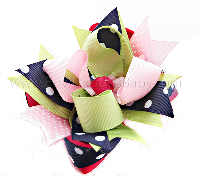 Candy Shoppe DIVA 2 Hair Bows or Headband, Regular or Mini