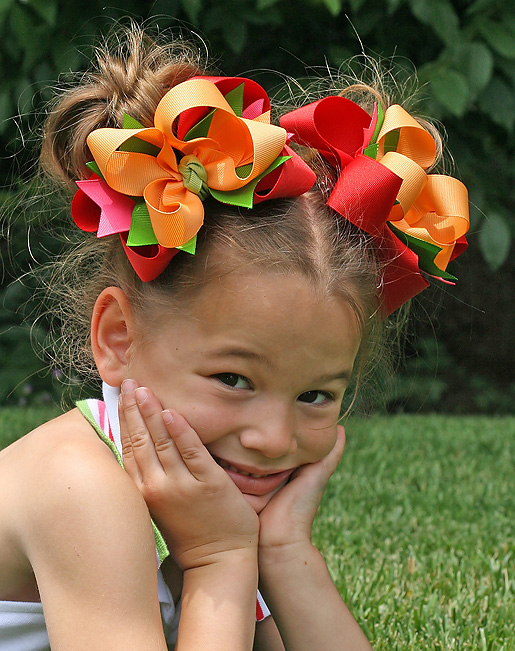 Cherry Baby DIVA Hair Bows or Headband