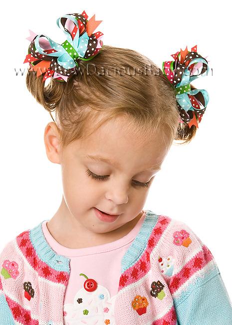 Cupcake Cutie Itty Bitty DIVA Hair Bows or Headband