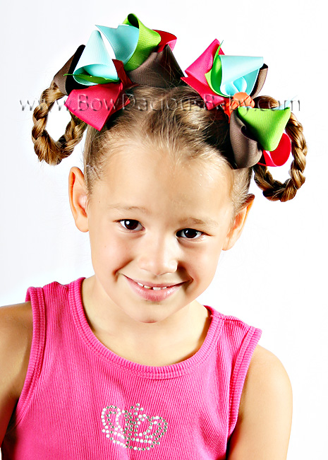 Cupcake Cutie Loopie Chic or Sweet Pea Hair Bows or Headband