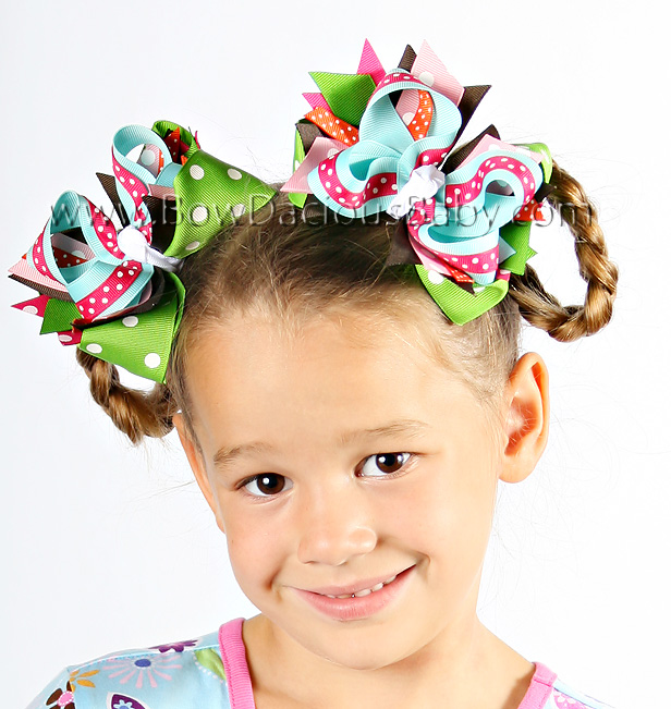 Cupcake Cutie DIVA 2 Hair Bows or Headband