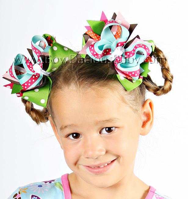 Cupcake Cutie DIVA 2 Hair Bows or Headband