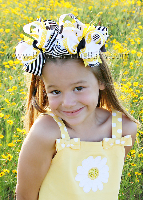 Lady Daisy DIVA 2 Hair Bows or Headband