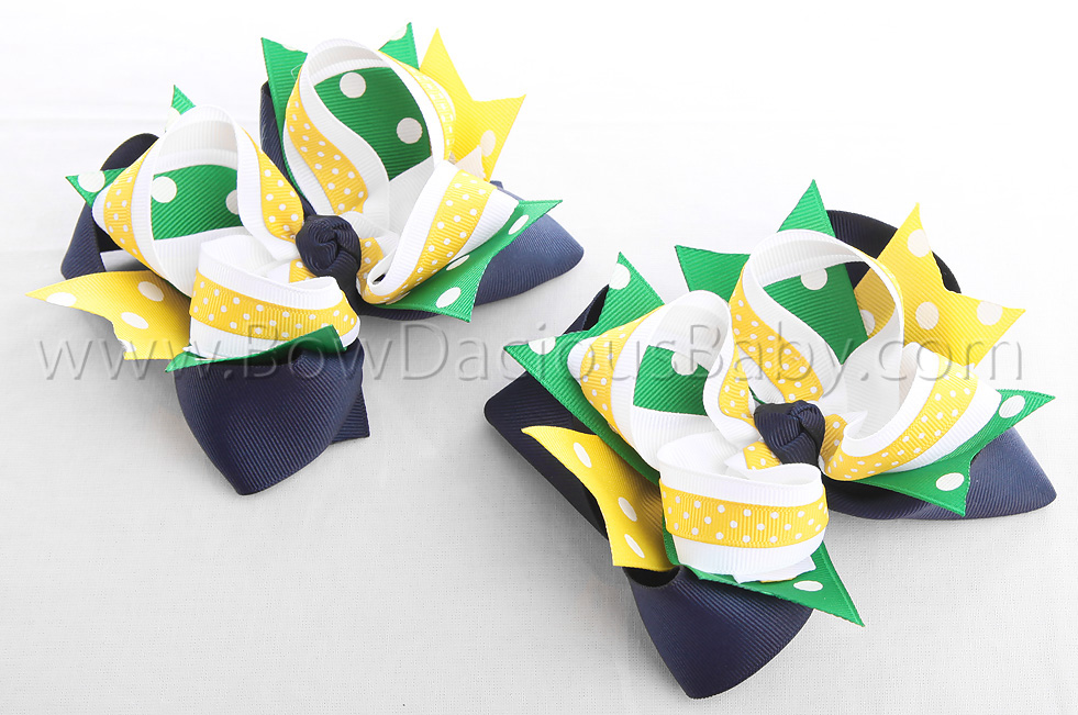 Daisy Days DIVA 4 Hair Bows or Headband, Regular or Mini