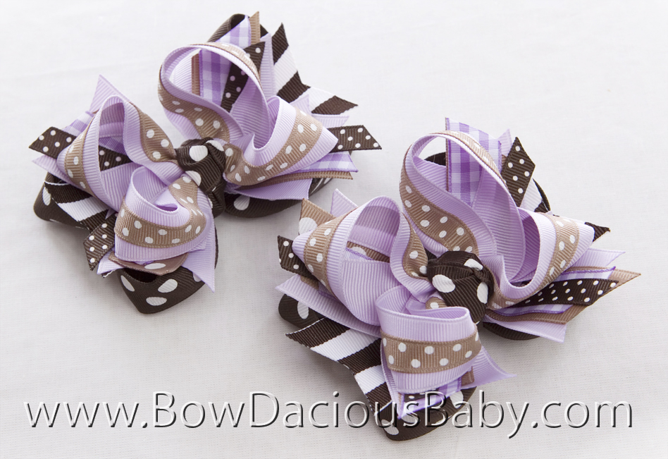 Desert Flower DIVA 2 Hair Bows or Headband, Regular or Mini