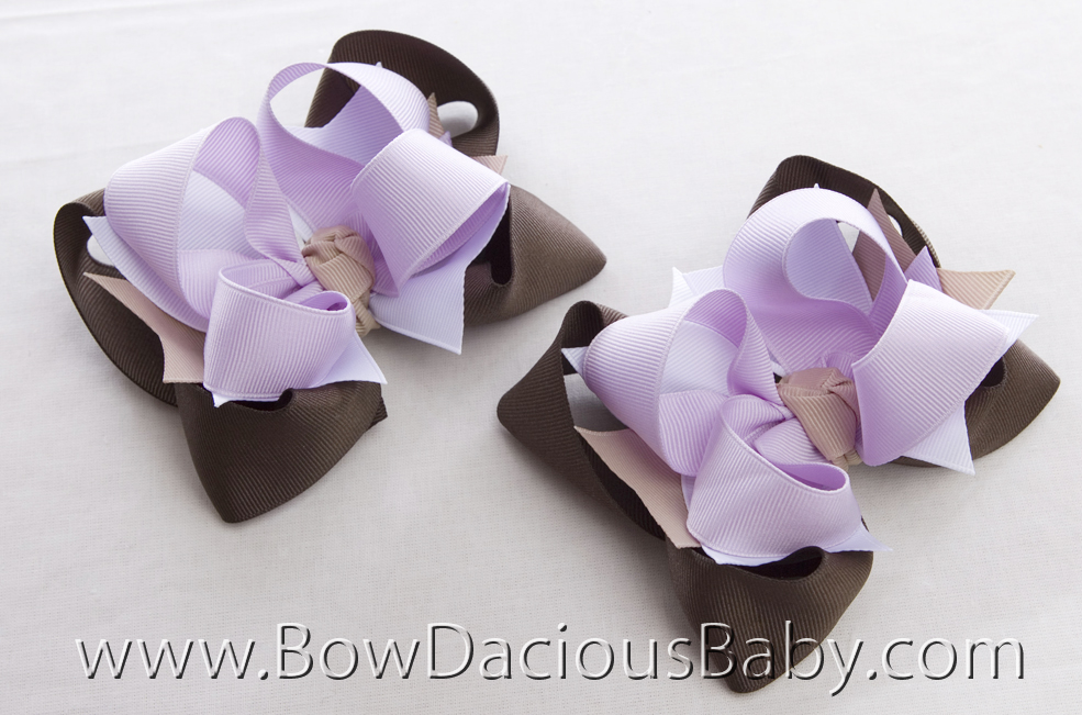 Desert Flower DIVA Hair Bows or Headband, Regular or Mini
