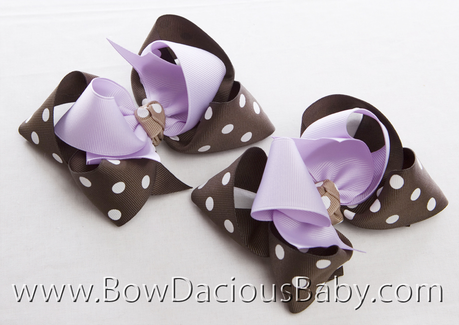 Desert Flower Loopie Chic Hair Bows or Headband, Regular or Mini