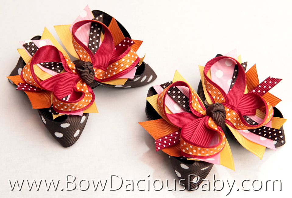 Gymboree Fall For Monkeys and Purrfect Autumn DIVA Hairbows or Headband, Regular or Mini, Single or Set