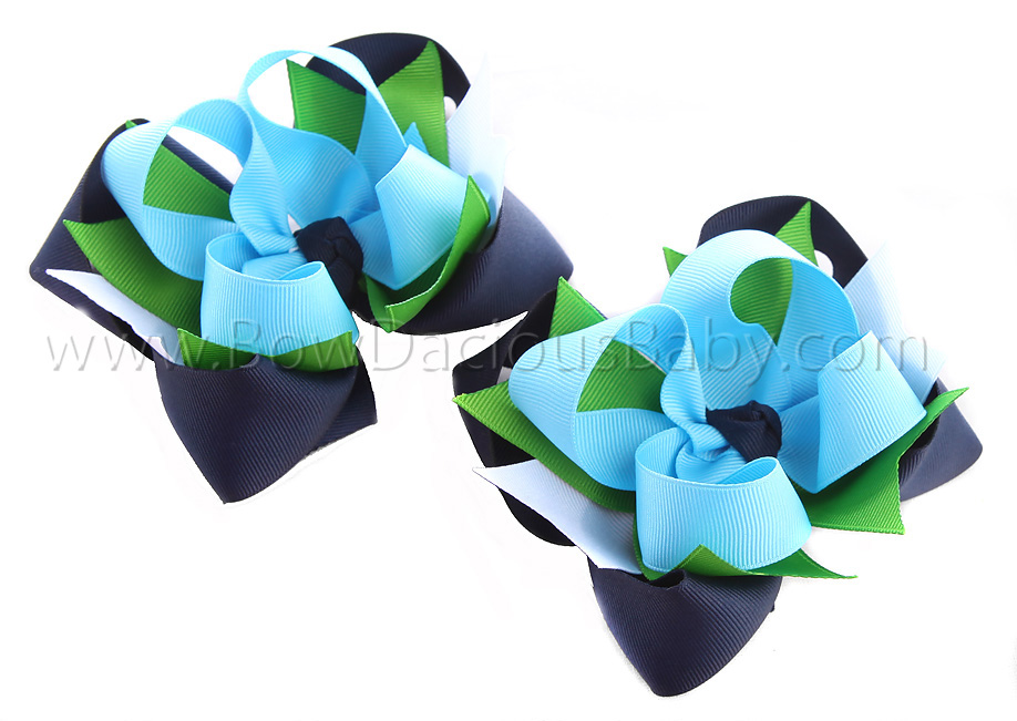 Fashion Flower DIVA Hair Bows or Headband Regular or Mini