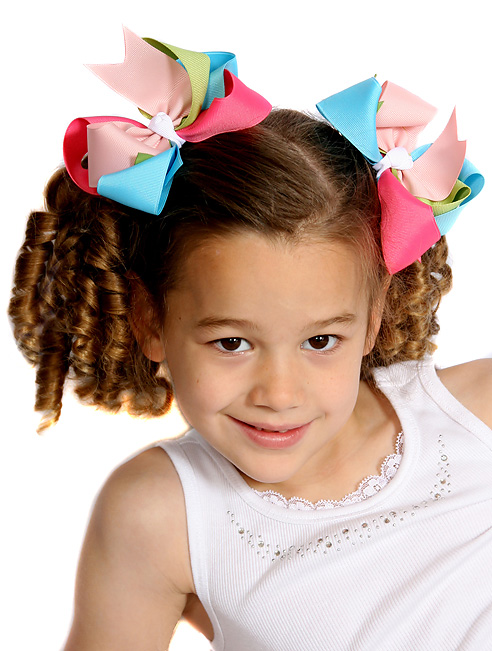 Flower Garden Loopie Chic Hair Bows or Headband Regular or Mini