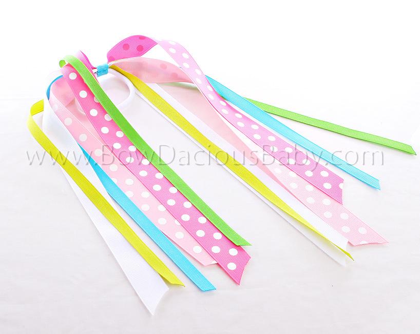 Flower Garden Streamer Bow