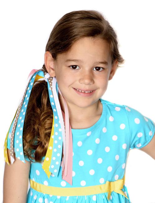Happy Rainbow Streamer Hair Bow