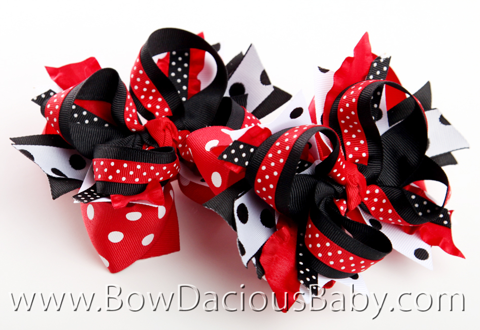 Gymboree Holiday Panda DIVA 2 Hair Bows or Headband, Regular or Mini