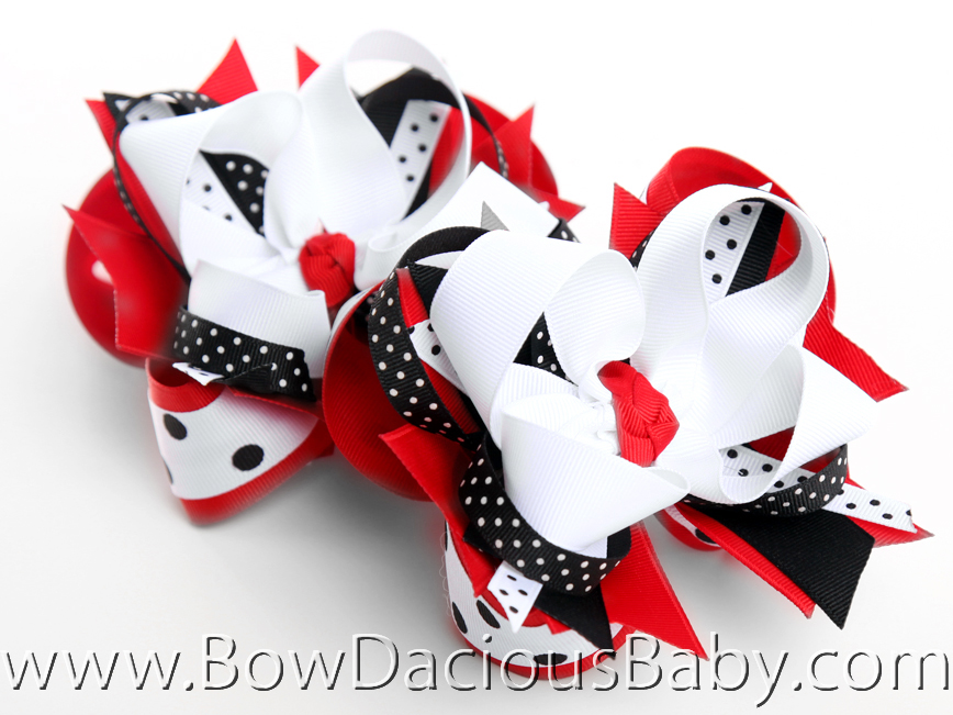 Gymboree Holiday Panda DIVA 4 Hair Bows or Headband, Regular or Mini