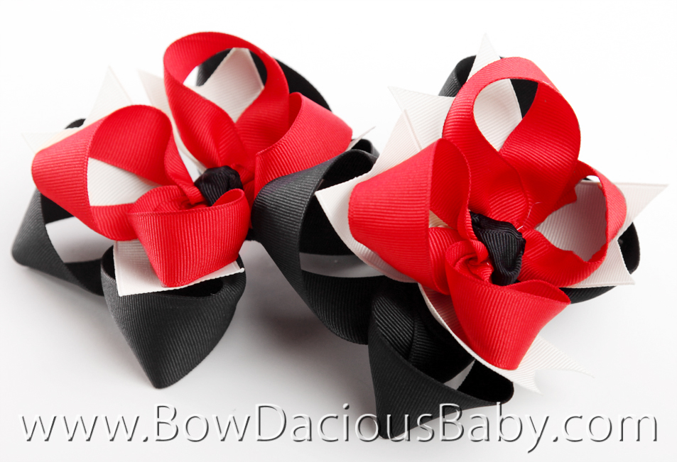 Gymboree Holiday Panda DIVA Hair Bows or Headband, Regular or Mini