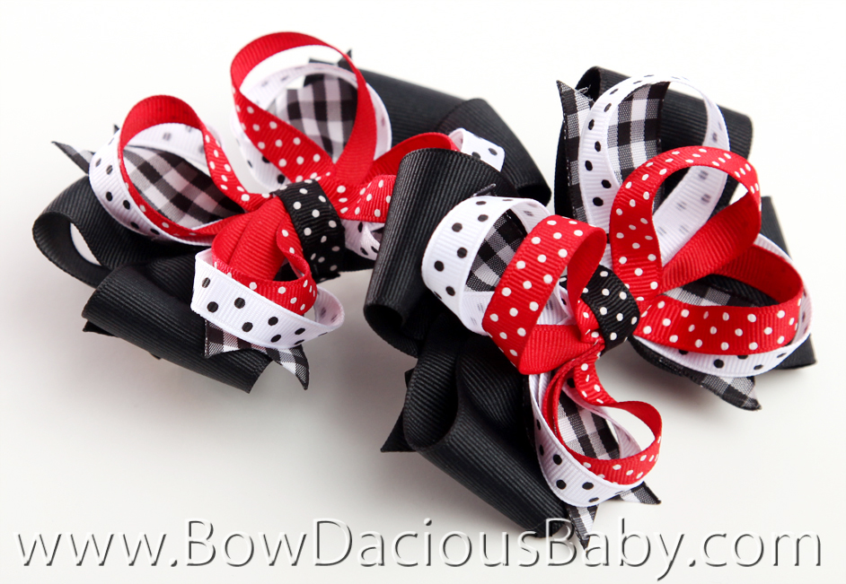 Gymboree Holiday Panda Hair Bows or Headband, Single or Set