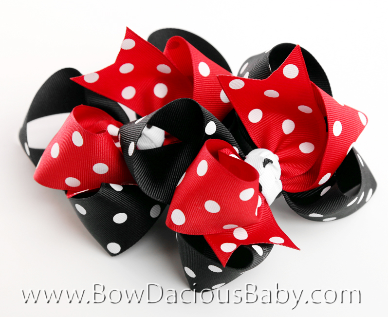 Gymboree Holiday Panda Loopie Chic Hair Bows or Headband, Regular or Mini, Single or Set