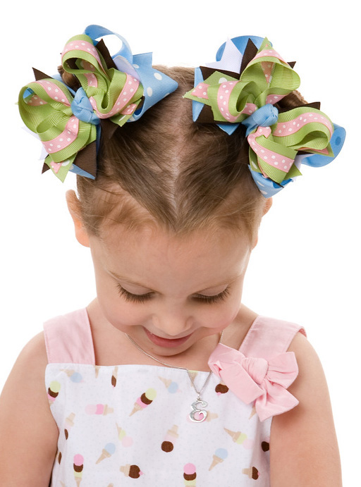 Ice Cream Social DIVA 2 Hair Bows or Headband
