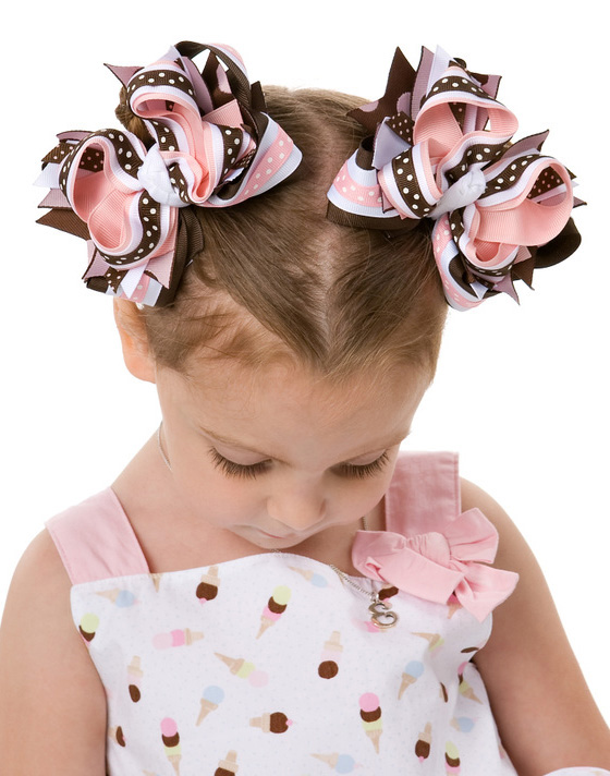 Ice Cream Social DIVA 3 Hair Bows or Headband
