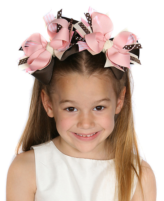 Gymboree Cutest Cowgirl DIVA 2 Hair Bows or Headband, Big Girl Bows, Infant Headband